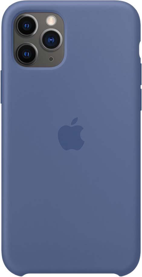 Чехол для iPhone 11 Pro, силикон, «синий лён»