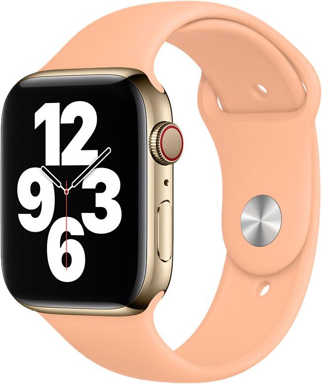 Спортивный ремешок для Watch 44 мм, светло-абрикосовый