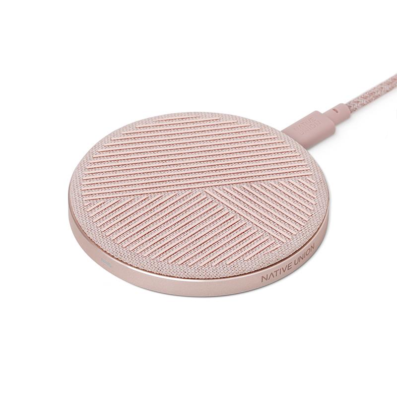 Беспроводное зарядное устройство Drop, розовый