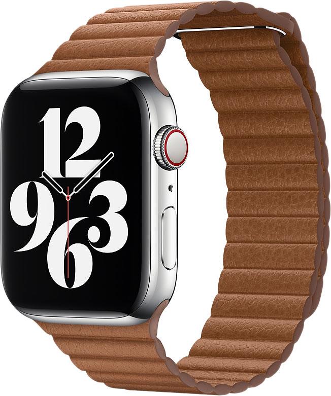 Кожаный ремешок Watch 44 мм, размер M, коричневый