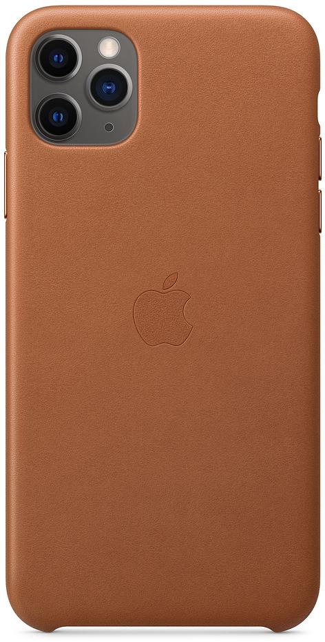 Чехол для iPhone 11 Pro Max Leather, золотисто‑коричневый