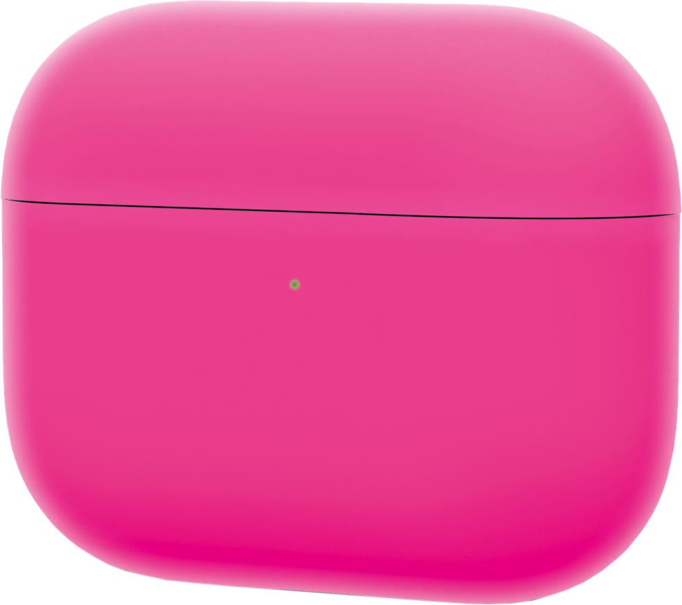 Чехол для AirPods Pro, силикон, розовый неон