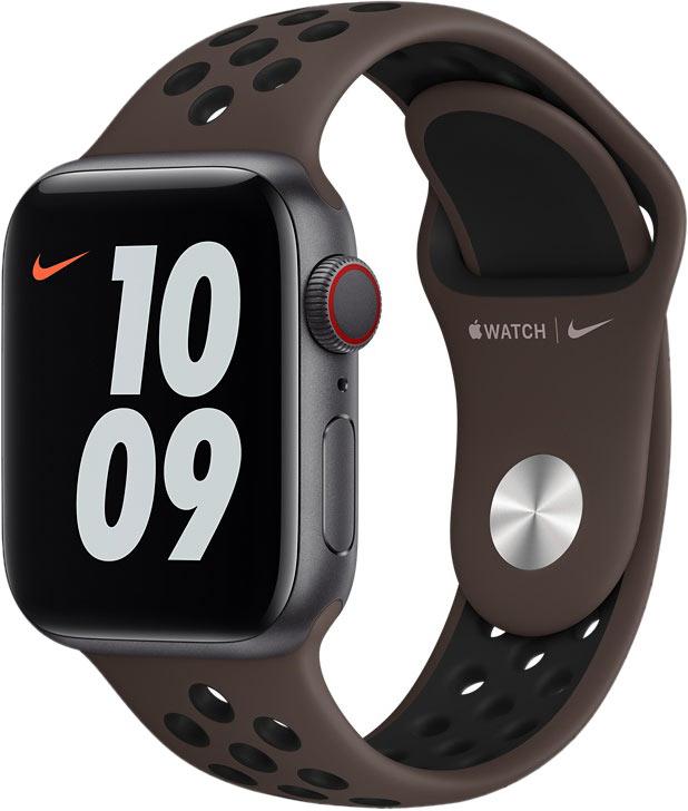 Спортивный ремешок для Apple Watch 40 мм, «тёмный металл/чёрный»