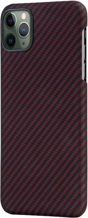 Чехол для iPhone 11 Pro, кевлар, красно-черный