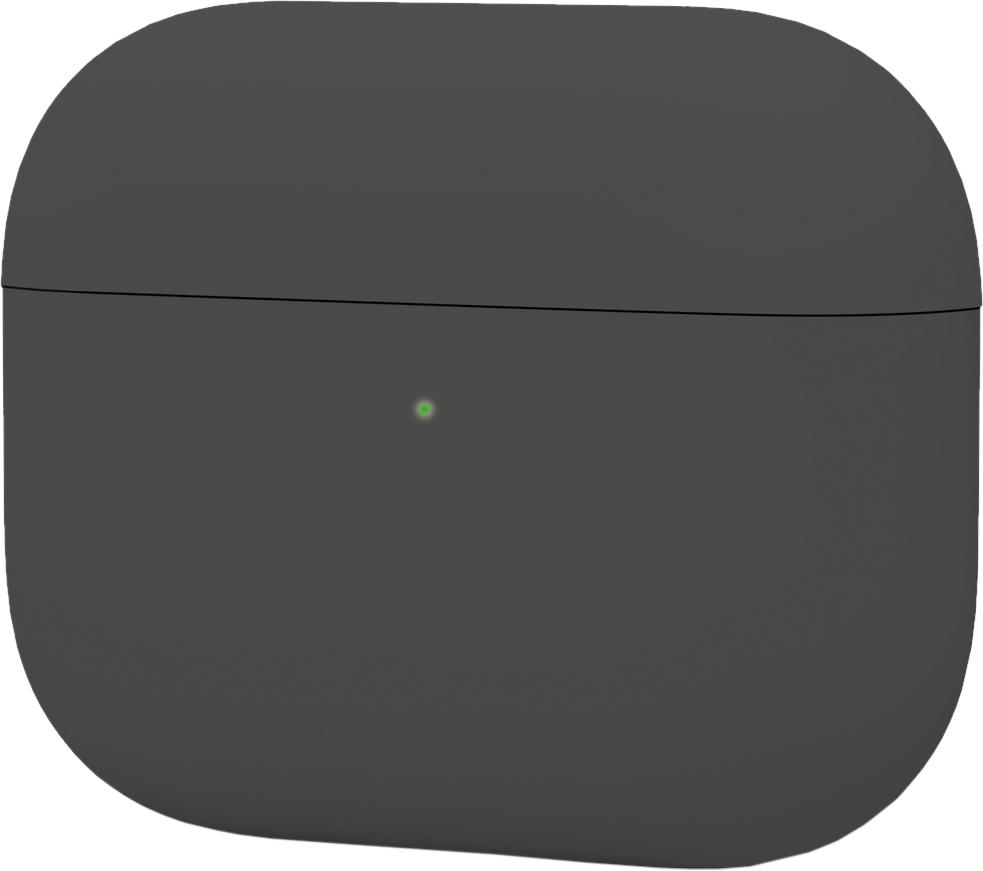 Чехол для AirPods Pro, силикон, темно серый