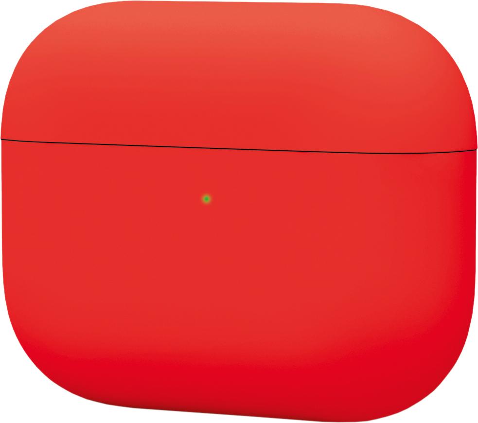 Чехол для AirPods Pro, силикон, красный