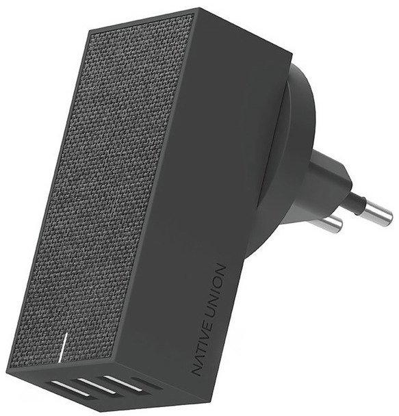 Сетевое зарядное устройство Smart 4 Charger 5.4 A, серый