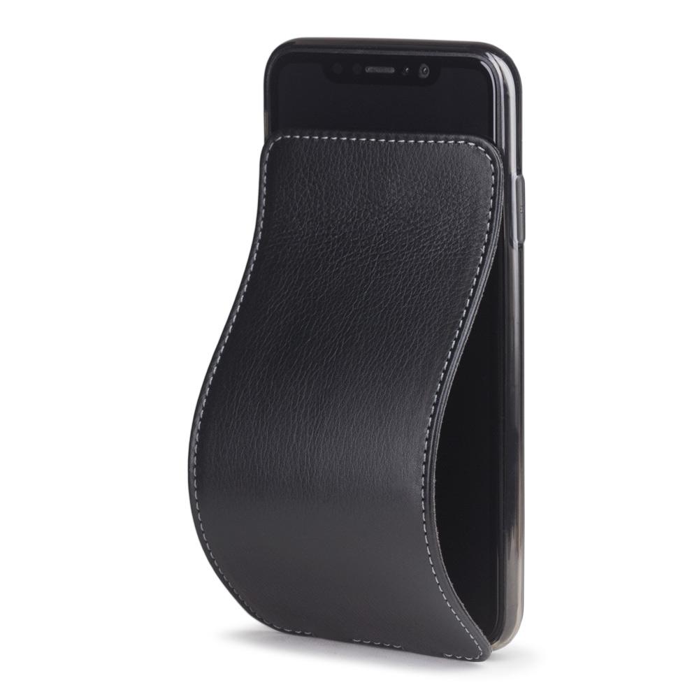 Чехол для iPhone XS Max, теленок, черный