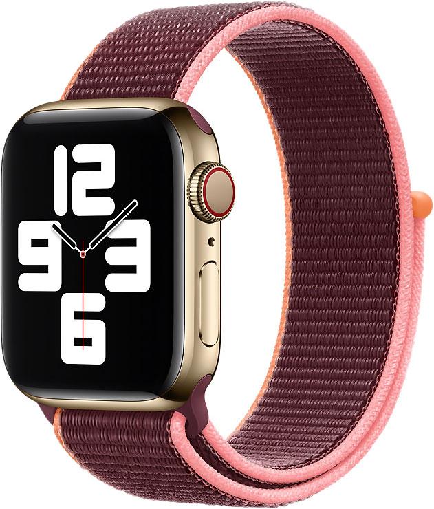 Спортивный браслет Watch 44 мм, сливовый