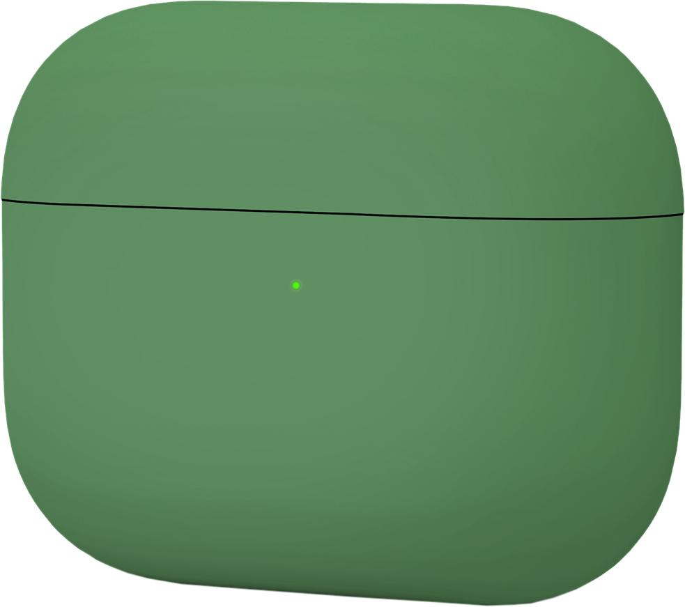 Чехол для AirPods Pro, силикон, темно зеленый