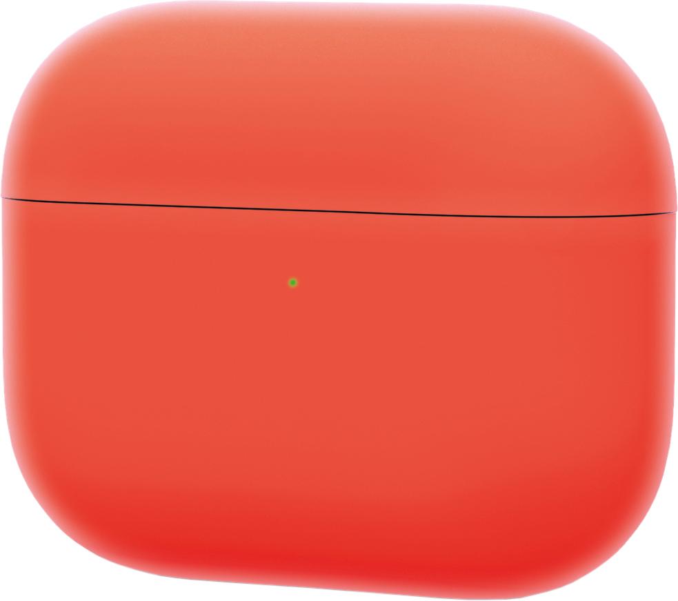 Чехол для AirPods Pro, силикон, коралловый неон