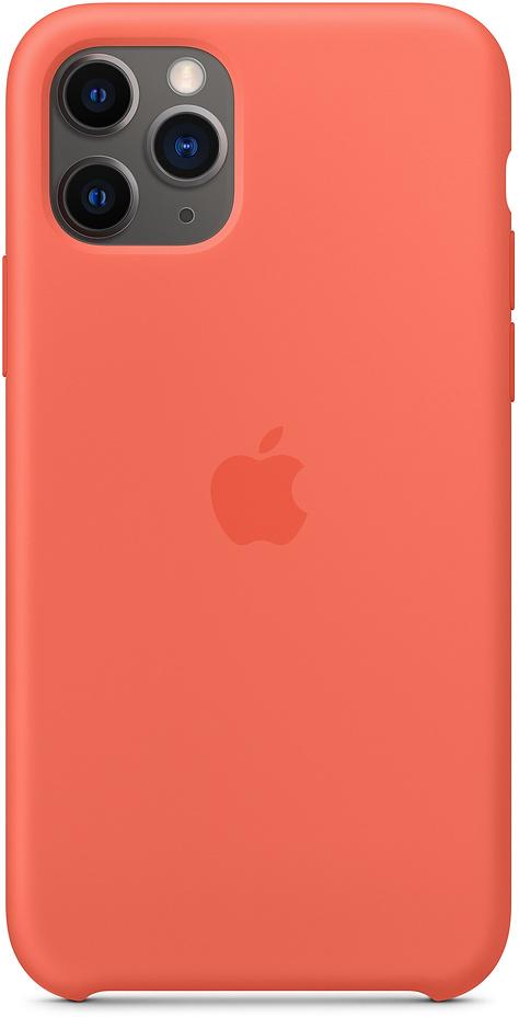 Чехол для iPhone 11 Pro, силикон, «спелый клементин»