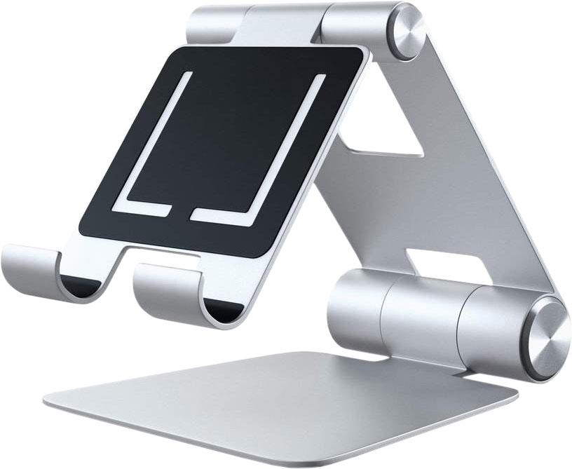 Подставка R1 Aluminum Multi-Angle Tablet Stand для мобильных устройств, серебристый
