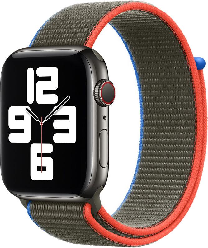 Спортивный браслет для Watch 44 мм, оливковый