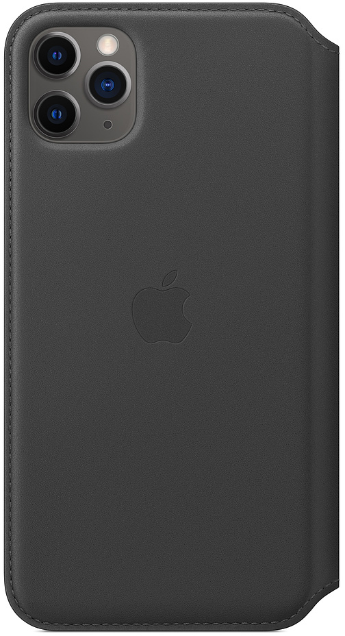 Чехол для iPhone 11 Pro Max Leather Folio, чёрный