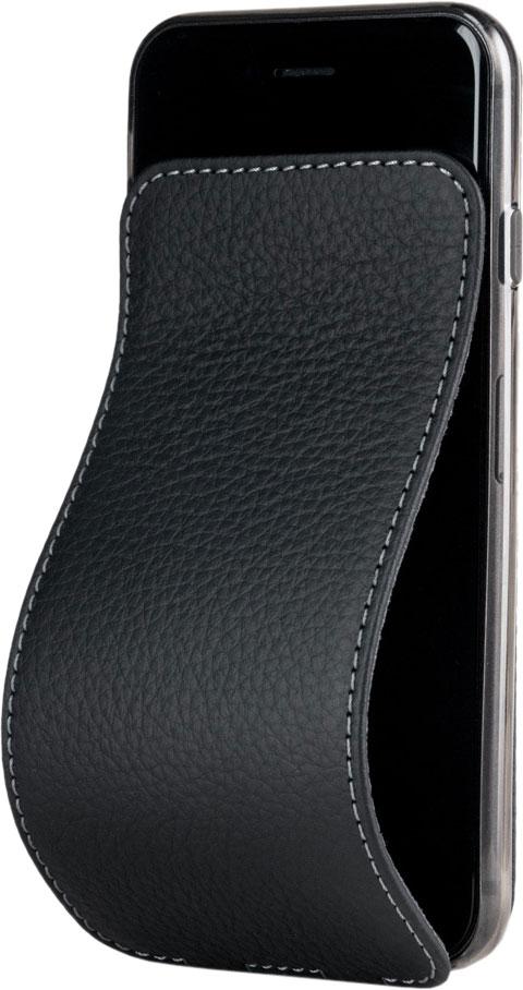 Чехол для iPhone 8/SE, теленок, матовый черный