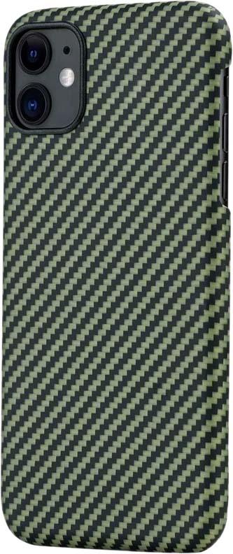 Чехол для iPhone 11, кевлар, зелено-черный