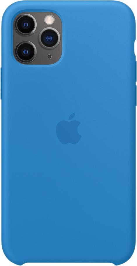 Чехол для iPhone 11 Pro, силикон «синяя волна»