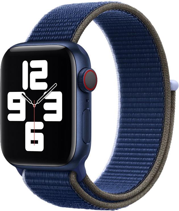 Спортивный браслет для Watch 40 мм, чёрно-синий