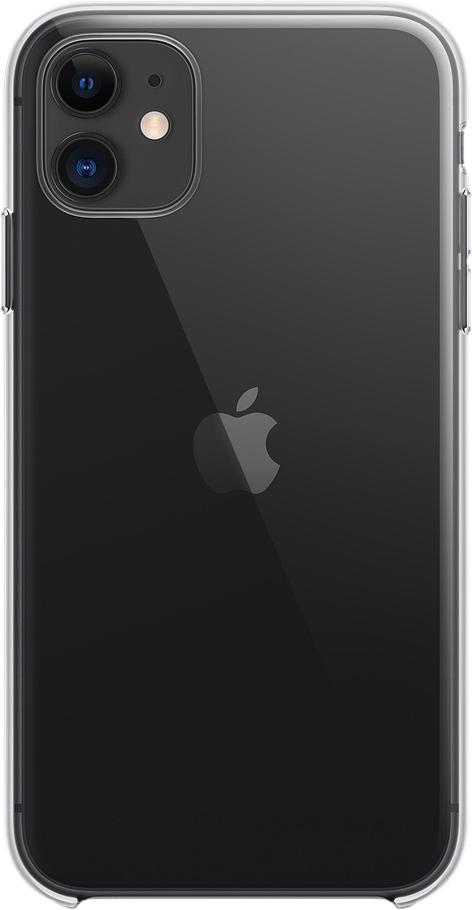 Чехол для iPhone 11, пластик, прозрачный