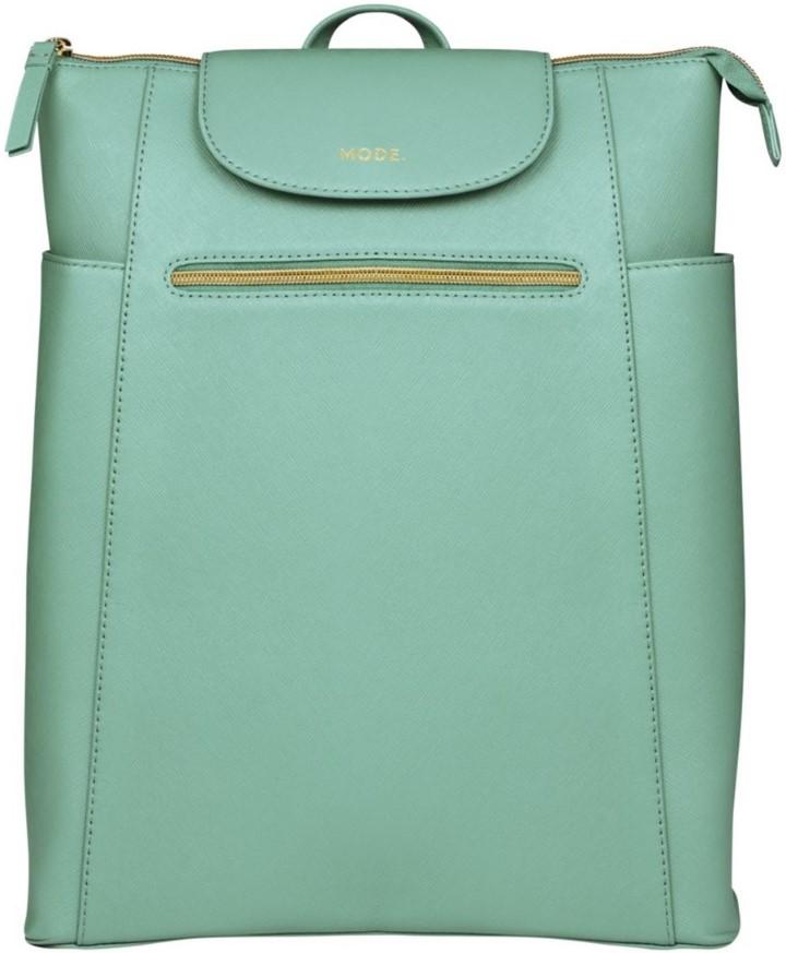 """Рюкзак Berlin для ноутбуков до 14"""", кожа, светло-зеленый"""