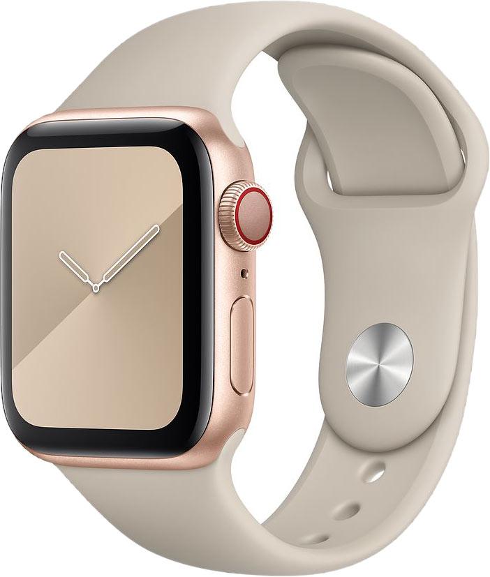 Ремешок для Apple Watch 42/44мм, силикон, светлый камень