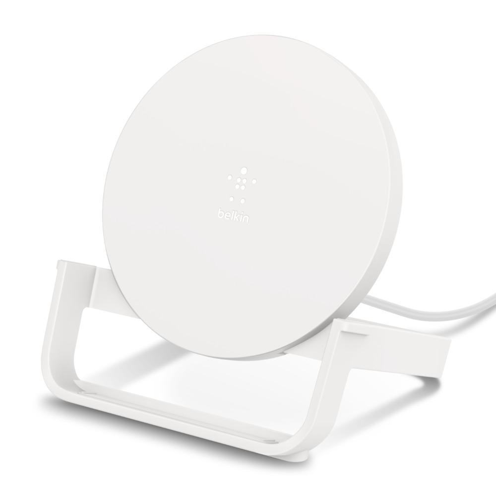 Беспроводное зарядное устройство с подставкой, белый