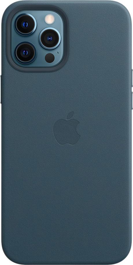 Чехол MagSafe для iPhone 12 Pro Max, кожа, «балтийский синий»