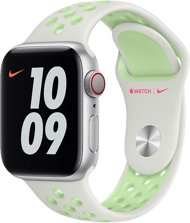 Спортивный ремешок для Apple Watch 40 мм, «еловая дымка/пастельный зелёный»