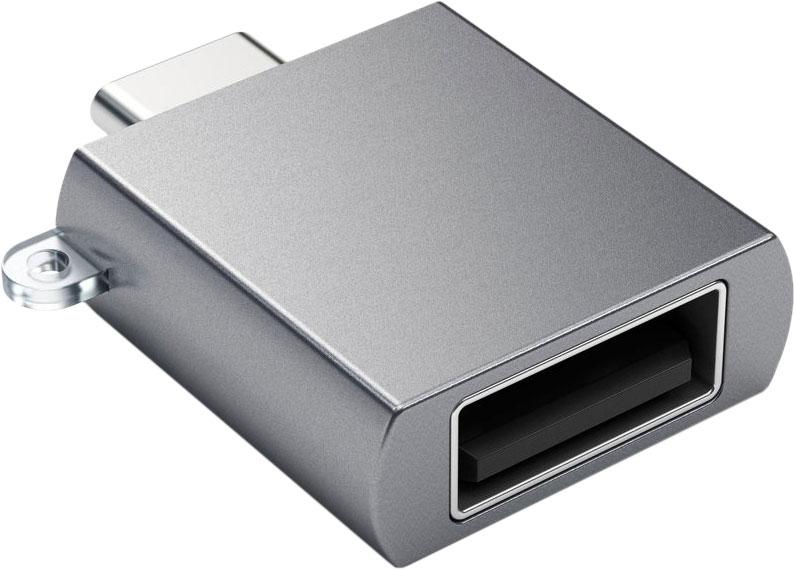 Адаптер USB-C - USB-A 3.0, серый