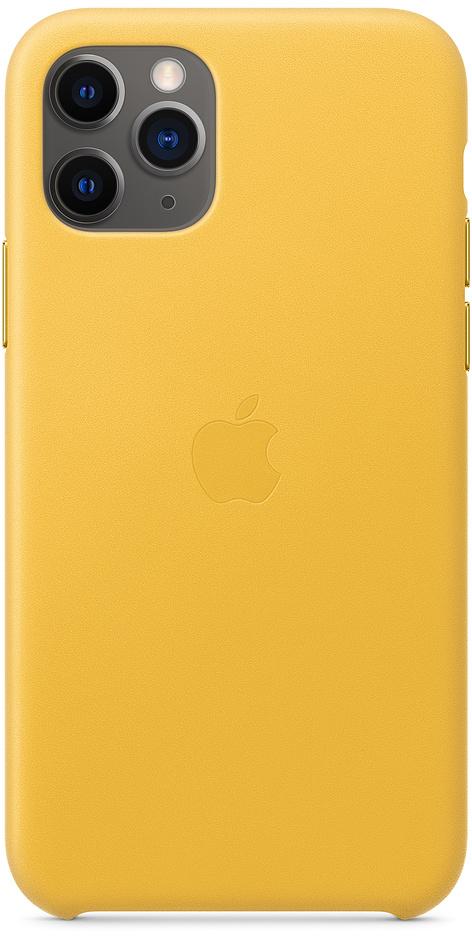 Чехол для iPhone 11 Pro Leather, «лимонный сироп»