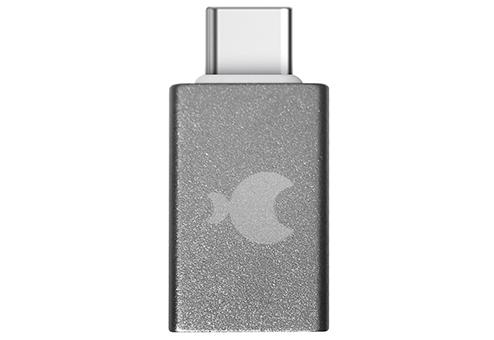 Адаптер USB-C на USB-A серый