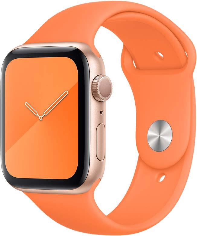 Спортивный ремешок для Watch 44 мм, «оранжевый витамин»