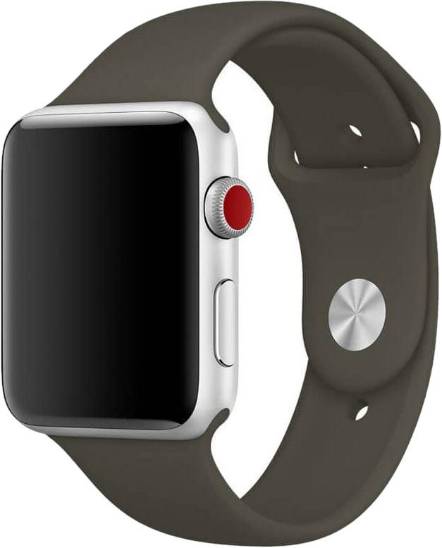 Ремешок для Apple Watch 42/44мм, силикон, оливковый