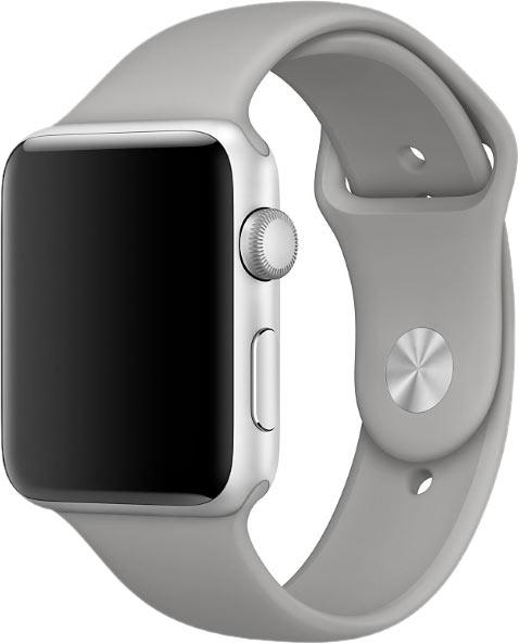 Ремешок для Apple Watch 42/44мм, силикон, серый бетон