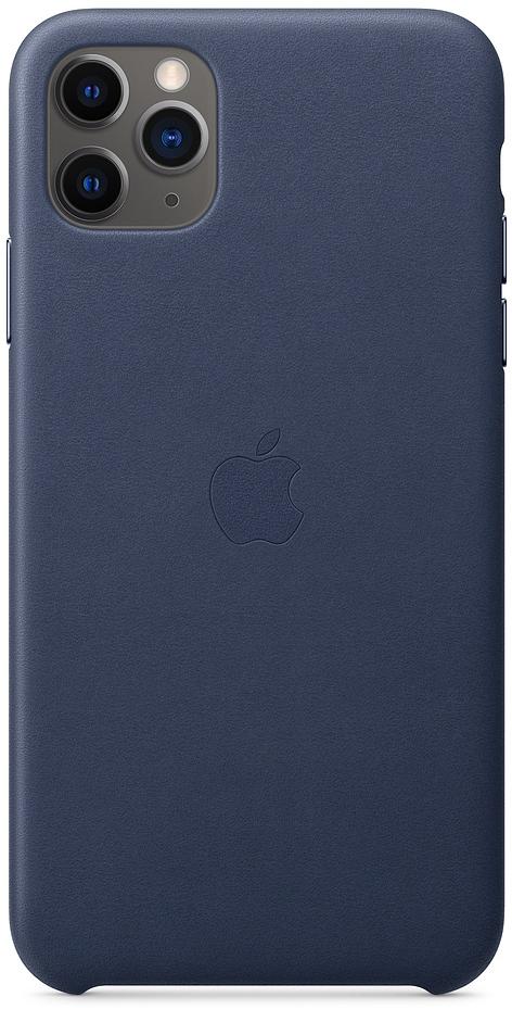 Чехол для iPhone 11 Pro Max Leather, тёмно‑синий