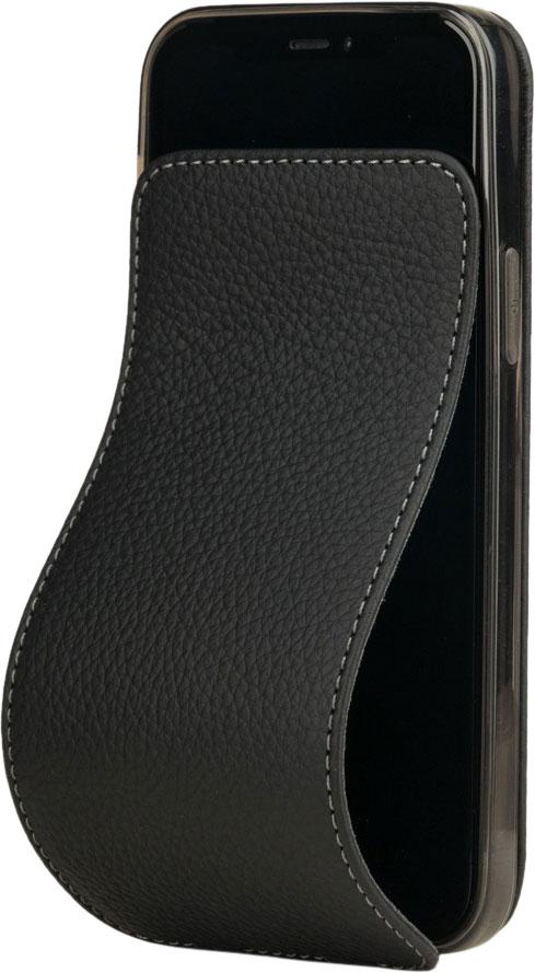 Чехол для iPhone 12 Pro Max, теленок, матовый черный