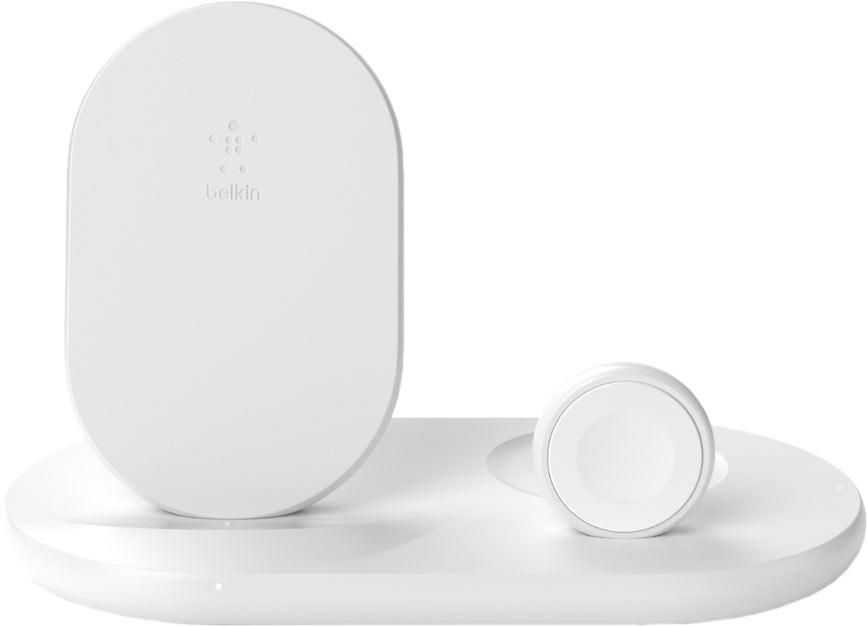 Беспроводное зарядное устройство 3 in 1, 7,5 Вт, белый