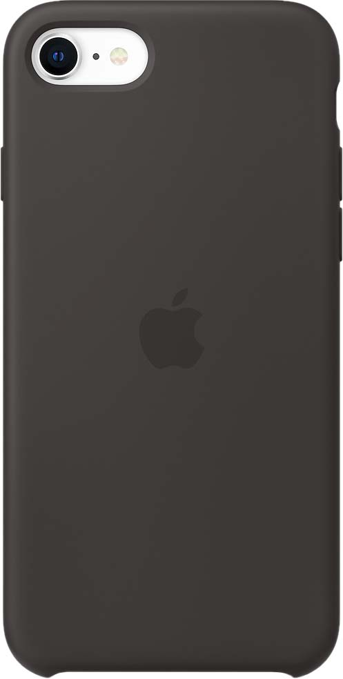 Чехол для iPhone SE, силикон, черный