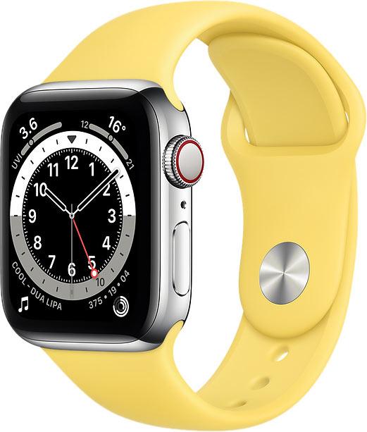 Ремешок для Apple Watch 42/44мм, силикон, имбирный