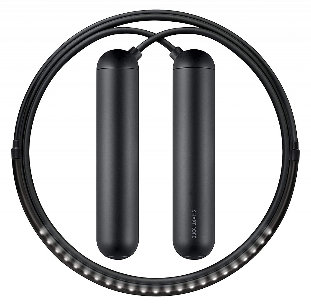 Умная светодиодная скакалка Factory Smart Rope, размер S, черный