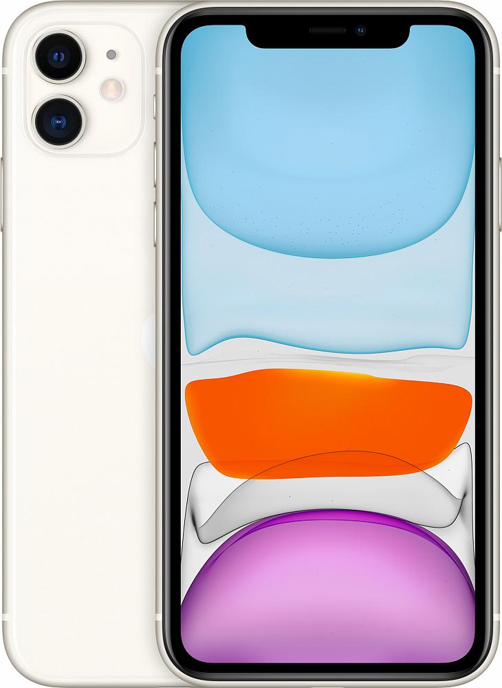 iPhone 11, 128 ГБ, белый (новая комплектация)