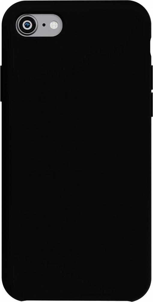 Чехол для iPhone 7/8/SE, силикон, черный (new)