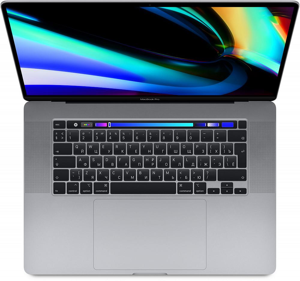 "MacBook Pro 16"" 8 Core i9 2,4 ГГц, 32 ГБ, 2 ТБ SSD, AMD Radeon Pro 5500M, Touch Bar, «серый космос» СТО"