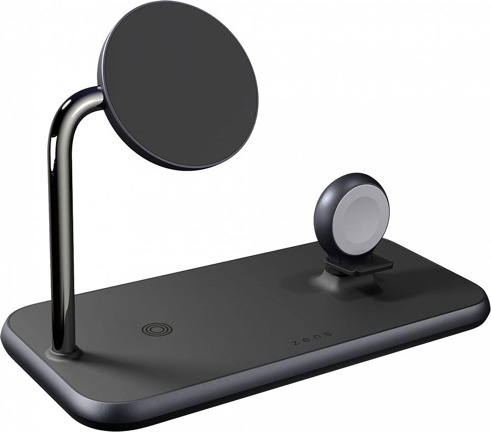 Беспроводное зарядное устройство Aluminium 4 in 1 Wireless Charger MagSafe, 45Вт, черный