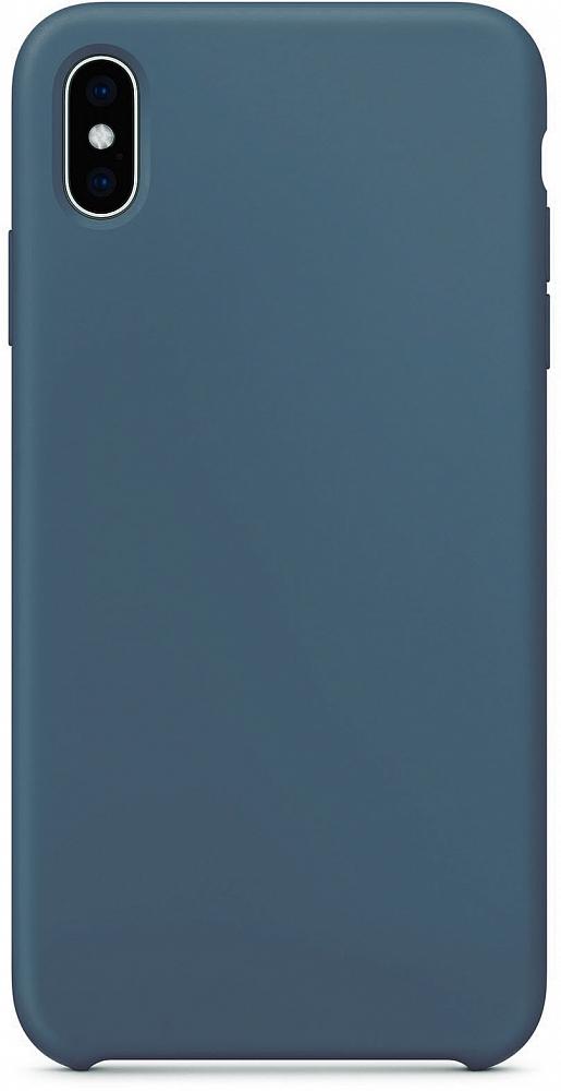 Чехол для iPhone XS Max, силикон, тёмно-синий