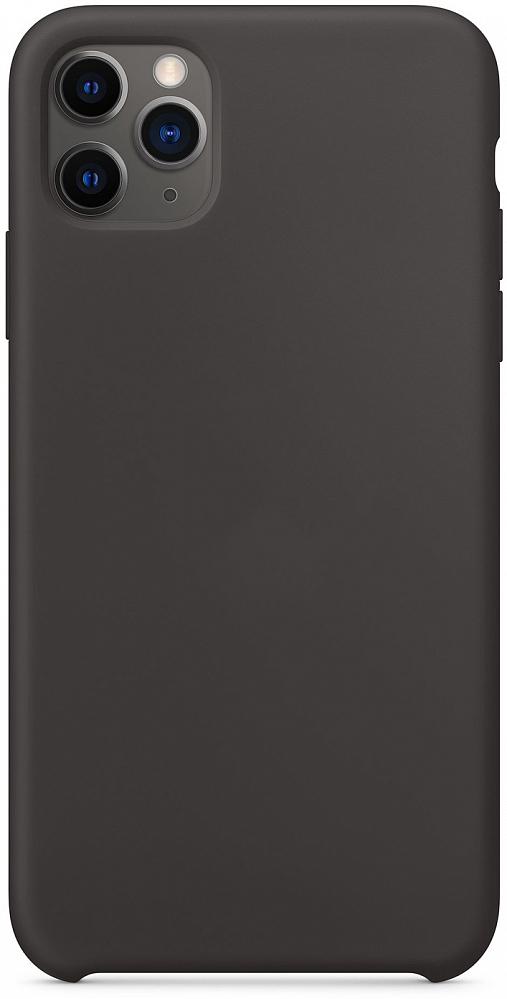 Чехол для iPhone 11 Pro Max, силикон, черный