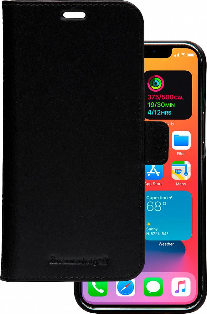 Чехол Lynge для iPhone 12/12 Pro, кожа, черный