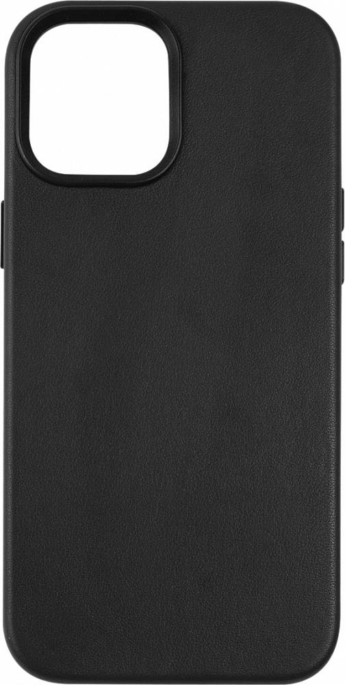 Чехол для iPhone 12 Pro Max, кожа, черный