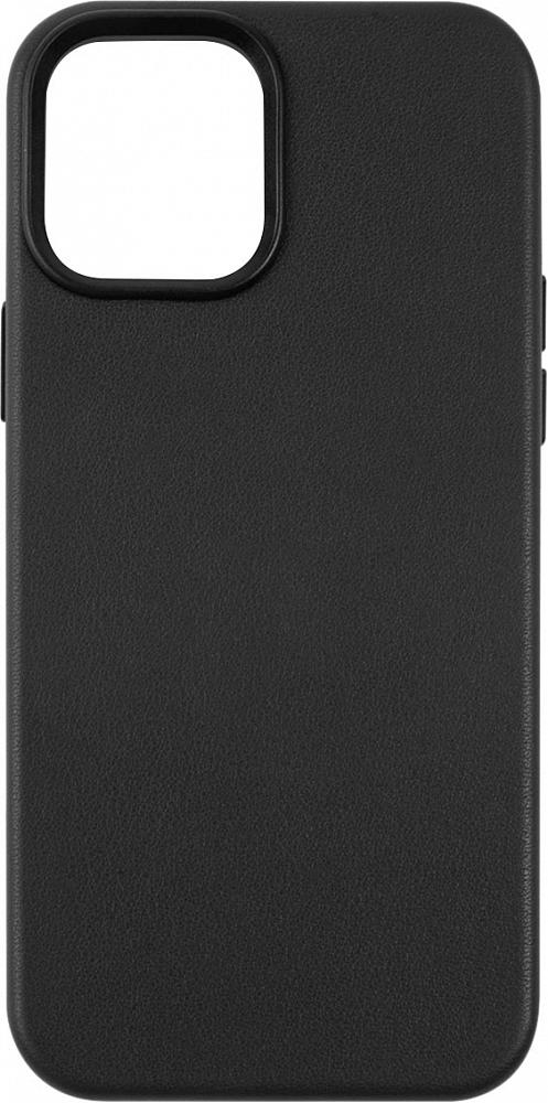 Чехол для iPhone 12/12 Pro, кожа, черный